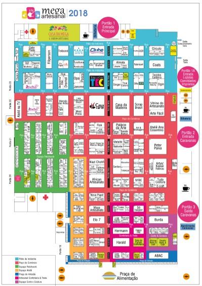 Mapa feira mega artesanal febacci